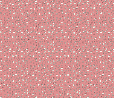 Flowers in pink fabric by catru on Spoonflower - custom fabric