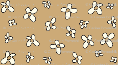 Flowers in brown