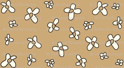 Flowers in brown