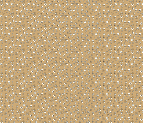 Flowers in brown fabric by catru on Spoonflower - custom fabric