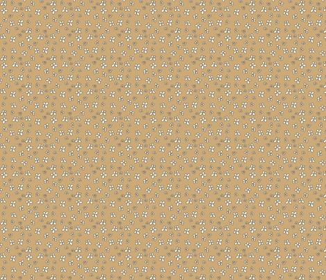 Flowers in brown fabric by catru on Spoonflower - custom fabric