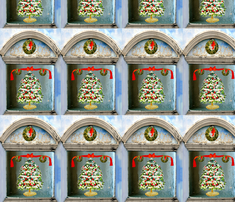 A Christmas Tree Shadow Box fabric by karenharveycox on Spoonflower - custom fabric