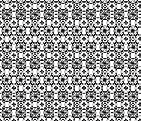 White and black Henricus fabric by poetryqn on Spoonflower - custom fabric