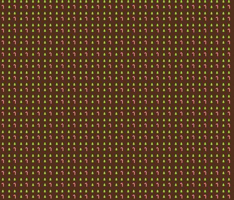 Xmas pattern brown