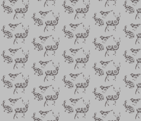 Woodland doily animals fabric by katarina on Spoonflower - custom fabric