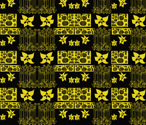 Klimt-inspired  fabric by paula_prints on Spoonflower - custom fabric
