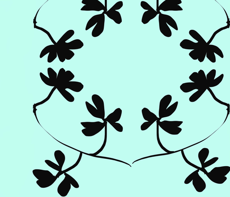 tiffany_silhouette fabric by tangerine_sunday on Spoonflower - custom fabric