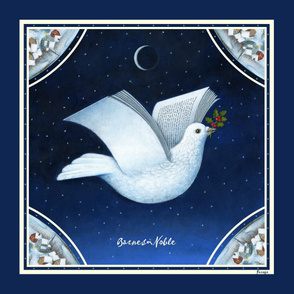 Barnes & Noble Holiday Dove Scarf