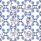 12 Days of Christmas Delft Style