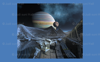 3010 Sci Fi Gas Giant Pillow © 2010 Gingezel™ Inc.