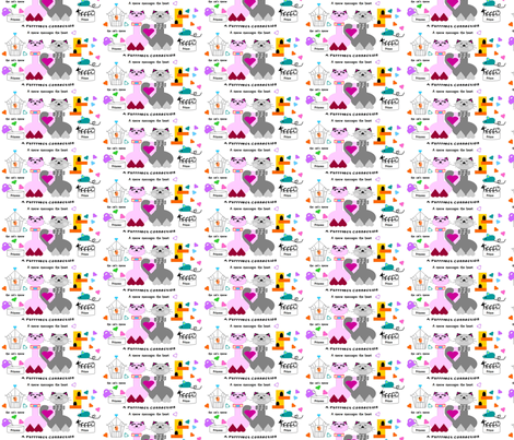 a_purrfect_connection_hearts fabric by precioussadies on Spoonflower - custom fabric