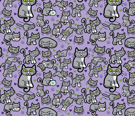 minya purple fabric by thickblackoutline on Spoonflower - custom fabric