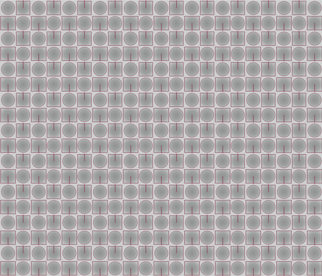 Grey Squares Circles © 2010 Gingezel™ fabric by gingezel on Spoonflower - custom fabric