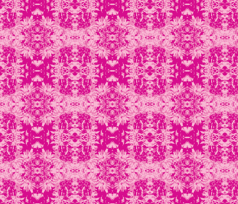 2 tone-on-tone_bright pink_asters_9_24_07_005-ch-ch-ch-ch fabric by khowardquilts on Spoonflower - custom fabric
