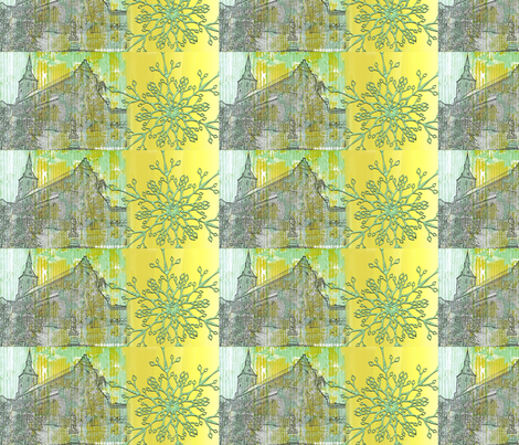 odensecollectionchurchytwocolours fabric by _vandecraats on Spoonflower - custom fabric
