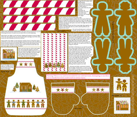 Dolly_and_me_gingerbread_apron_kits_ fabric by victorialasher on Spoonflower - custom fabric