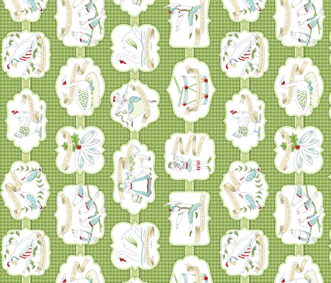 Twelve Days of Christmas fabric by pattysloniger on Spoonflower - custom fabric