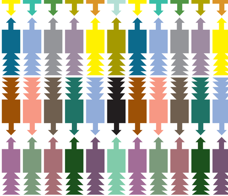 arrows fabric by junej on Spoonflower - custom fabric