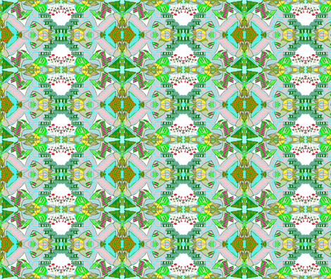 My Fantasy Garden fabric by robin_rice on Spoonflower - custom fabric