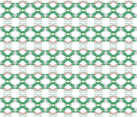 Asian Rose Garden fabric by robin_rice on Spoonflower - custom fabric