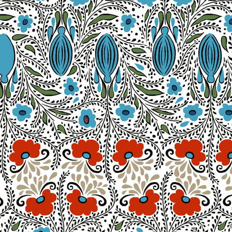 FOLKING_AROUND_1 fabric by ebecho on Spoonflower - custom fabric