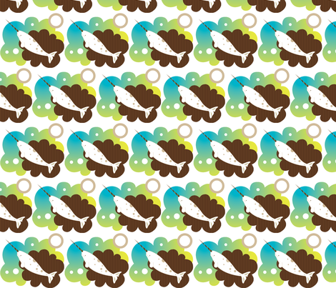 Narwhal Dream fabric by malien00 on Spoonflower - custom fabric