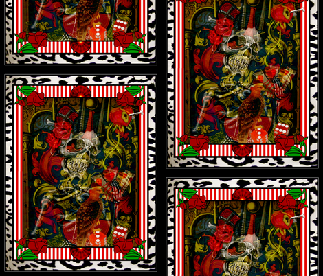 En honor de la abuela muerta fabric by whimzwhirled on Spoonflower - custom fabric
