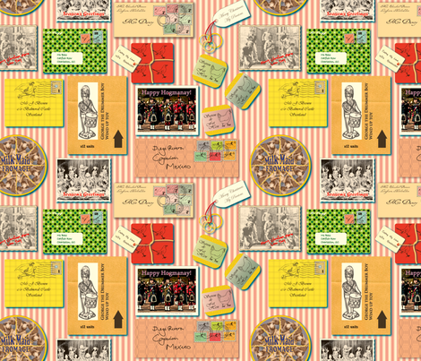 Please Mr. Postman fabric by bee&lotus on Spoonflower - custom fabric