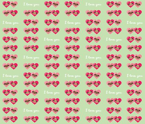 Puppy Love fabric by mayenedesign on Spoonflower - custom fabric