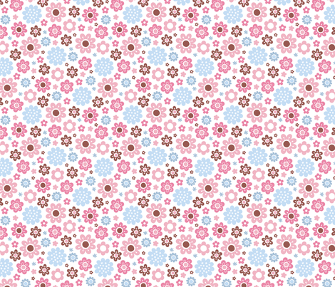 picnic floral - candy fabric by littlebeehive on Spoonflower - custom fabric