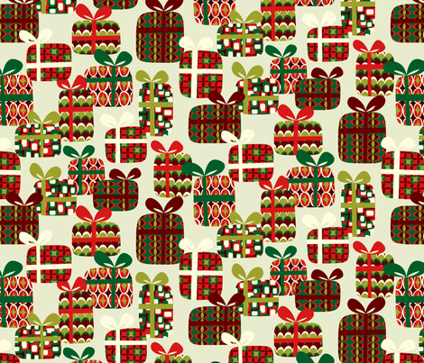 Mod Geo Xmas: Presents fabric by bronhoffer on Spoonflower - custom fabric