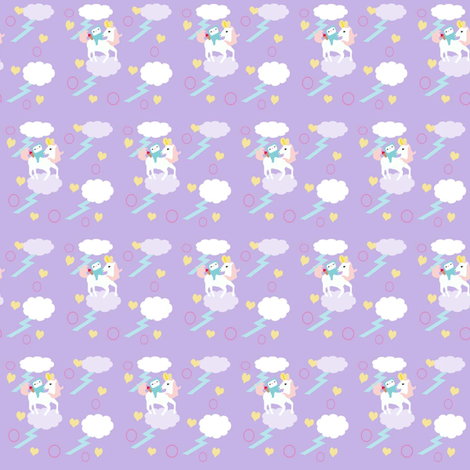 Unicorn fabric LG Pattern fabric by itybitybags on Spoonflower - custom fabric