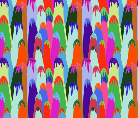 ice cream mountains fabric by marinamolares on Spoonflower - custom fabric