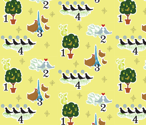 12 Days of Birds fabric by jenimp on Spoonflower - custom fabric