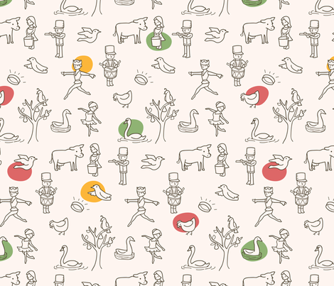 My True Love fabric by auki on Spoonflower - custom fabric