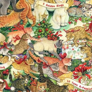 Cats of Christmas ©Peggy Toole 1998