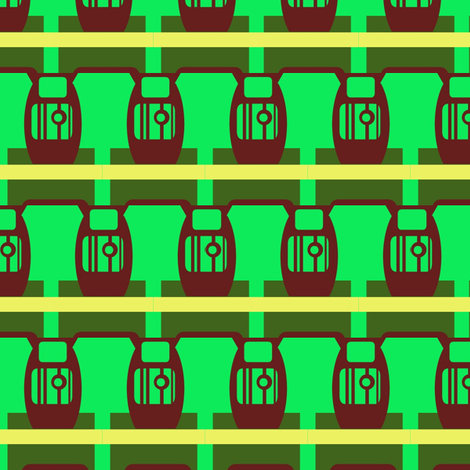 Robot Urns fabric by boris_thumbkin on Spoonflower - custom fabric