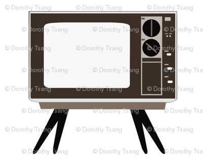 Retro TV - White Background