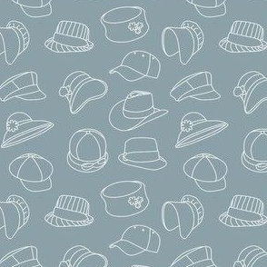 Vintage Hats Through Time (Grey)