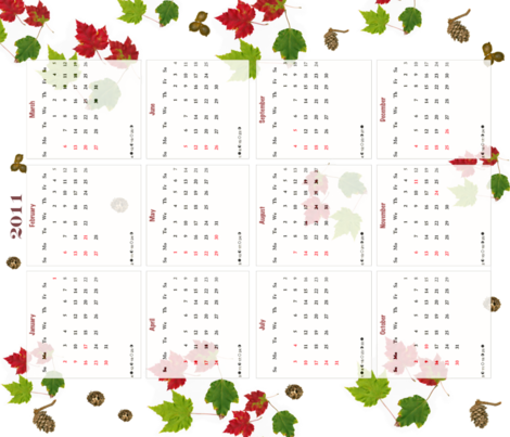 2011 Tea Towel Calendar fabric by stephen_of_spoonflower on Spoonflower - custom fabric