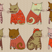 Sweater Cats in Red