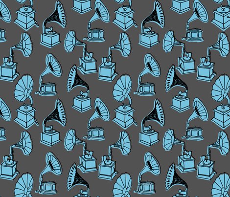 Phonograph - Vintage fabric by andrea_lauren on Spoonflower - custom fabric