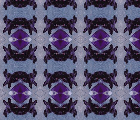 Purple pup fabric by murrday on Spoonflower - custom fabric
