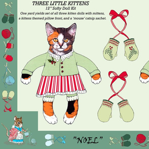 Three Little Kittens -- 'Cut-n-Sew' Doll Kit