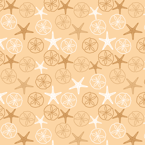 Sea Gifts - Biscuit fabric by inscribed_here on Spoonflower - custom fabric