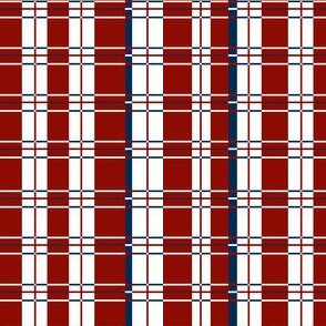 Plaid: Red, white and blue