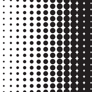 Halftone Black on White