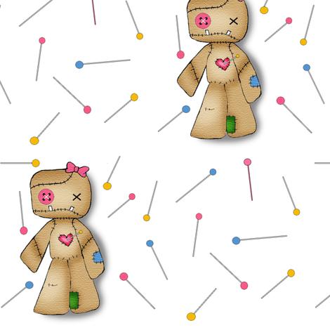Voodoo Pins fabric by tuesdaydesigns on Spoonflower - custom fabric