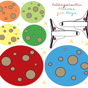Intergalactic Pillows for Boys