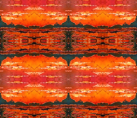 RIPPLZ 4 (sunset) fabric by suedudadesigns on Spoonflower - custom fabric